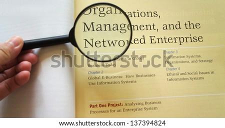 management - stock photo