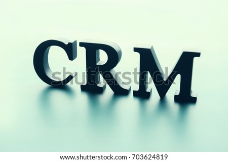 Management Abbreviation Crm Made Letters On Stock Photo Royalty
