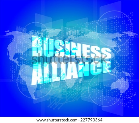 Management concept: business alliance words on digital screen - stock photo