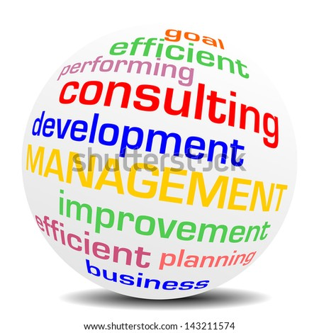management consulting word sphere