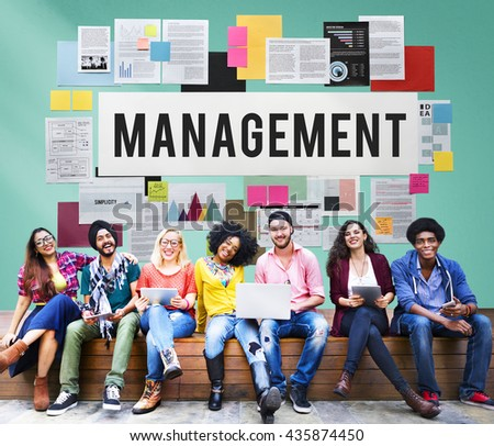 Management Mentor Organization Strategy Roles Concept - stock photo