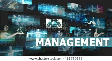 Management Presentation Background with Technology Abstract Art 3d Illustration Render