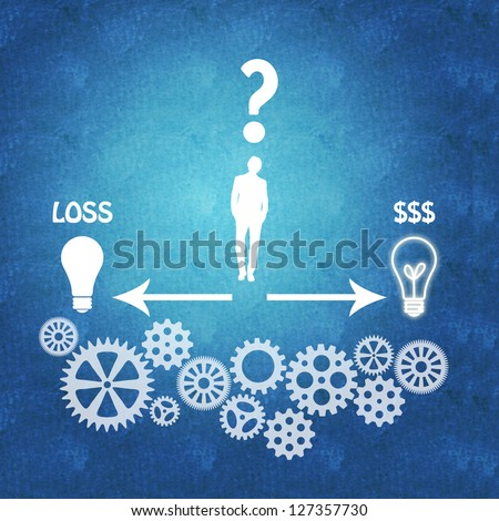 Management process: making the right decision leads to success - stock photo