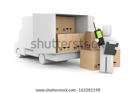Management process of loading - stock photo