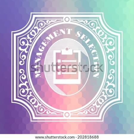 Management Selection Concept. Vintage design. Pastels Color Flow Hexagonal Background. - stock photo