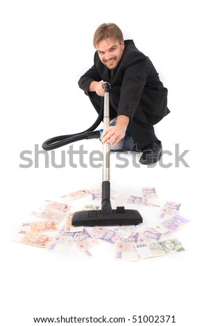 manager and money - stock photo
