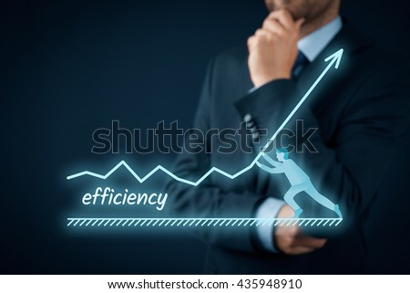 Manager (businessman, coach, leadership) plan to increase efficiency.