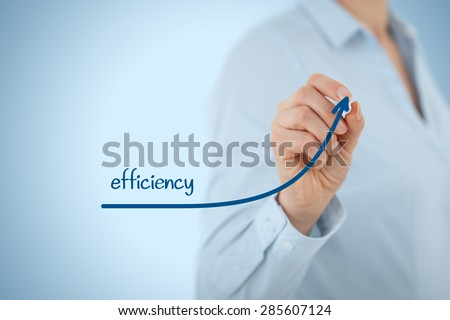 Manager (businesswoman, coach, leadership) plan to increase efficiency. - stock photo