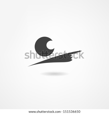 manager icon - stock photo