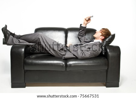 manager on couch