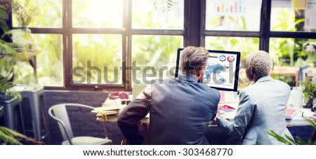 Manager Secretary Collaboration Meeting Discussion Concept - stock photo