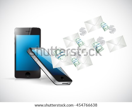 managing business over the phone. illustration design graphic - stock photo