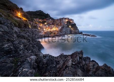 Manarola town, Cinque Terre, Italy - stock photo