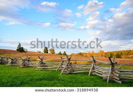 Manassas National Battlefield Park - stock photo