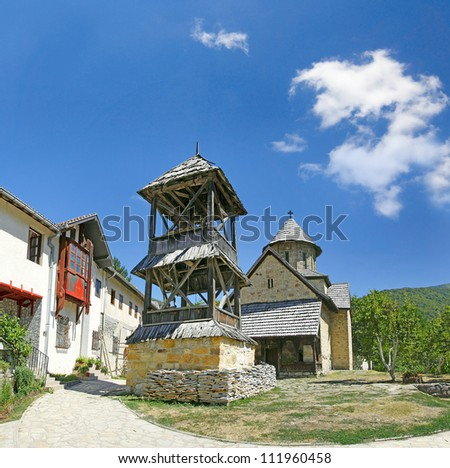 Manastir Blagovestenje Gospodnje - Orthodox monastery Annunciation of the Lord is built during dinasty of Nemanjich, and renovate in the year 1602nd. Central Serbia, Ovcar Banja (Ov?ar Banja) - stock photo