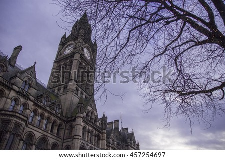 Manchester City Council in a gloomy day
