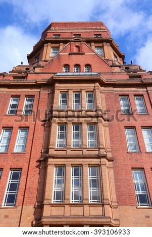 Manchester - city in North West England (UK). University of Manchester, Sackville Street Building.