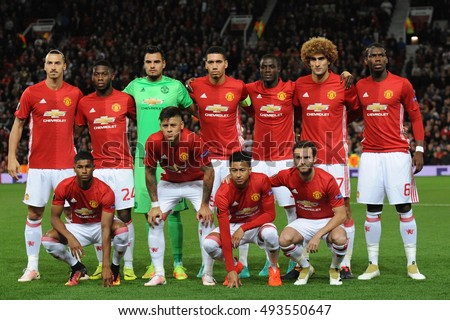 Manchester united stock images royalty free images vectors manchester england september 29 2016 group photo of the team manchester united voltagebd Images