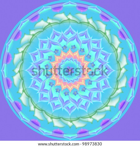 Mandala circular abstract pattern colorful floral kaleidoscopic image background
