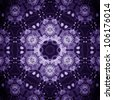 Mandala Purple Flower/ Ornamental round floral pattern. kaleidoscopic floral pattern, six-pointed mandala. Fractal mosaic background./ High resolution abstract image - stock photo