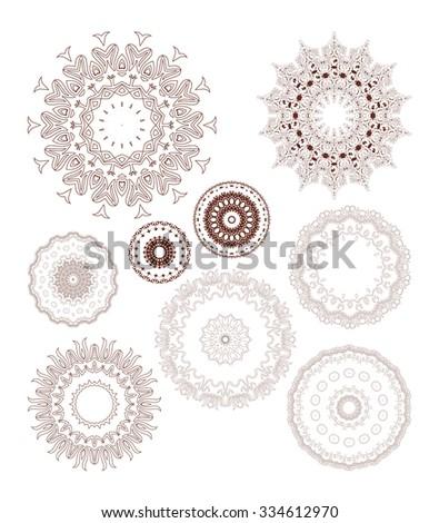 Mandala. Round Ornament Pattern. Vintage decorative elements. Hand drawn background. Islam, Arabic, Indian, ottoman motifs. Raster version - stock photo