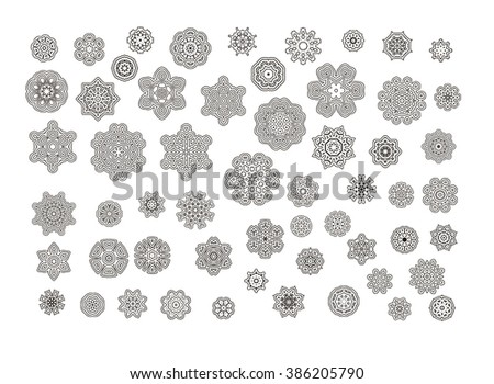 Mandala. Round ornament. Vintage decorative elements.Circular pattern of traditional motifs and ancient oriental ornaments. Hand drawn background. - stock photo