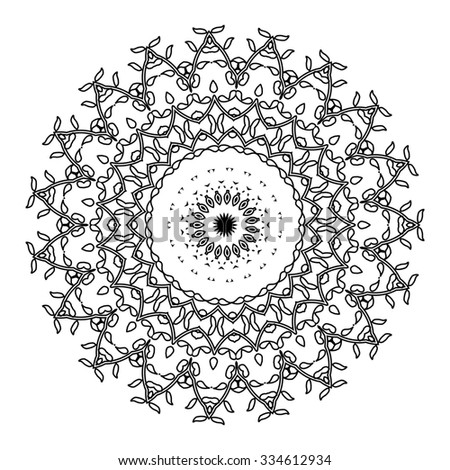 Mandala. Vintage decorative elements. Oriental pattern, Raster version. Islam, Arabic, Indian, turkish, pakistan, chinese, ottoman motifs - stock photo