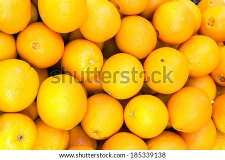 mandarin lemon close up background - stock photo