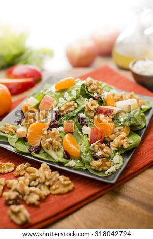 Mandarin Orange, Apple & Walnut Salad