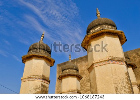 Mandawa, India Feb 24, 2018:Architural View And Old Building Of Historical