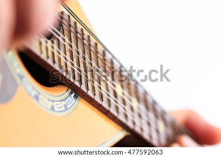 Mandolin, performance, hand