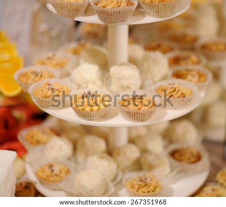 mane cakes on the desk - stock photo