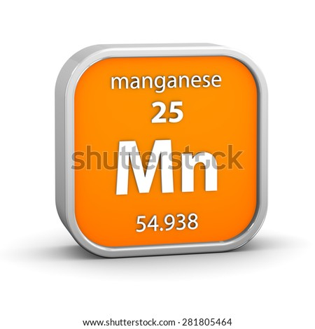 Manganese material on the periodic table. Part of a series.
