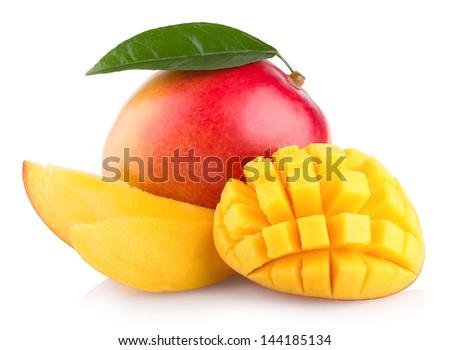 mango fruit isolated on white background - stock photo