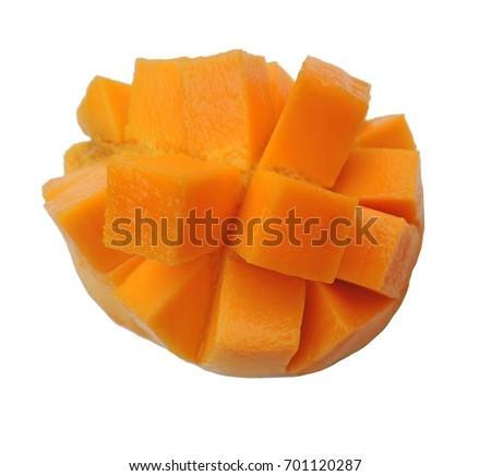 Philippines mango stock images royalty free images vectors mango hedgehog style cut ripe mango half on a white background ccuart Choice Image