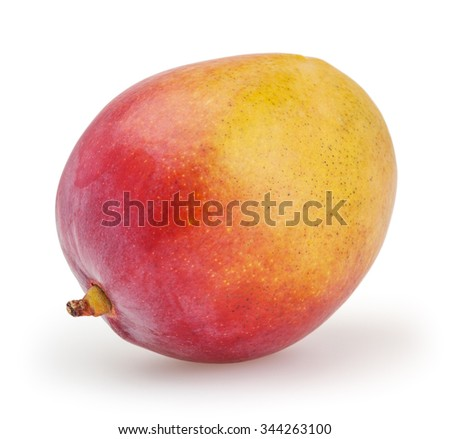 Mango isolated on white backgound with clipping path - stock photo