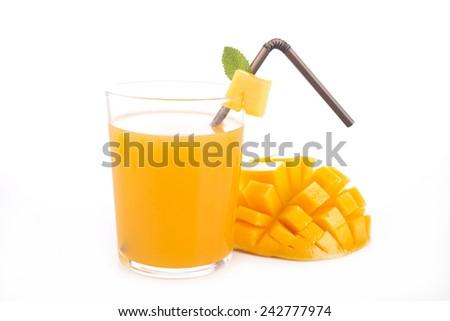 mango juice - stock photo