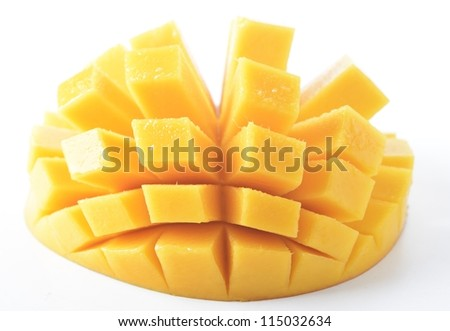 mango on white background - stock photo