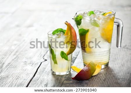 mango refreshing summer drink - stock photo