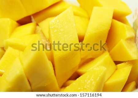 Mango slices - stock photo