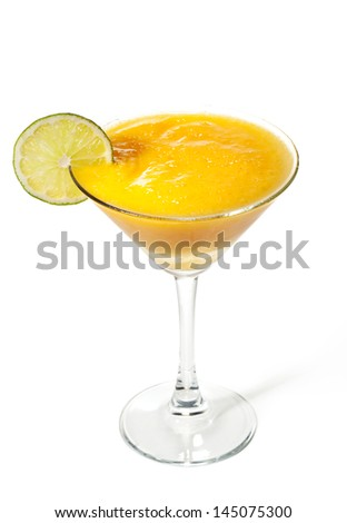 Mango with Apple Frozen Cocktail - stock photo
