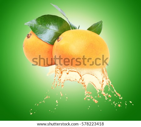 mangoes  with  mango juice splash