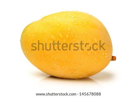 mangos on white background  - stock photo