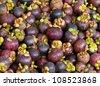 mangosteen delicious thai fruit - stock photo