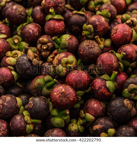 Mangosteen fruit.