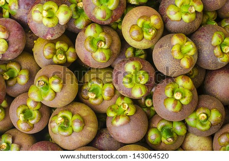 Mangosteen Fruits Background