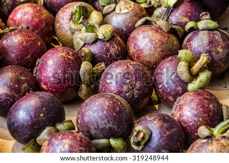 Mangosteen Thai fruit, Thailand - stock photo