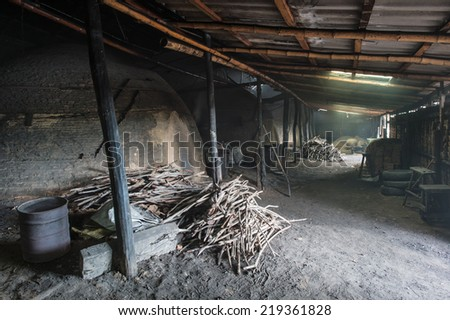 Mangrove wood for charcoal burning process