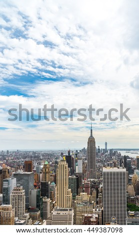 Manhattan Aerial view, New York.