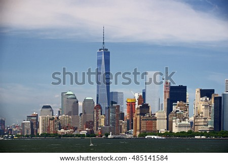Manhattan and Freedom Tower, New York, USA